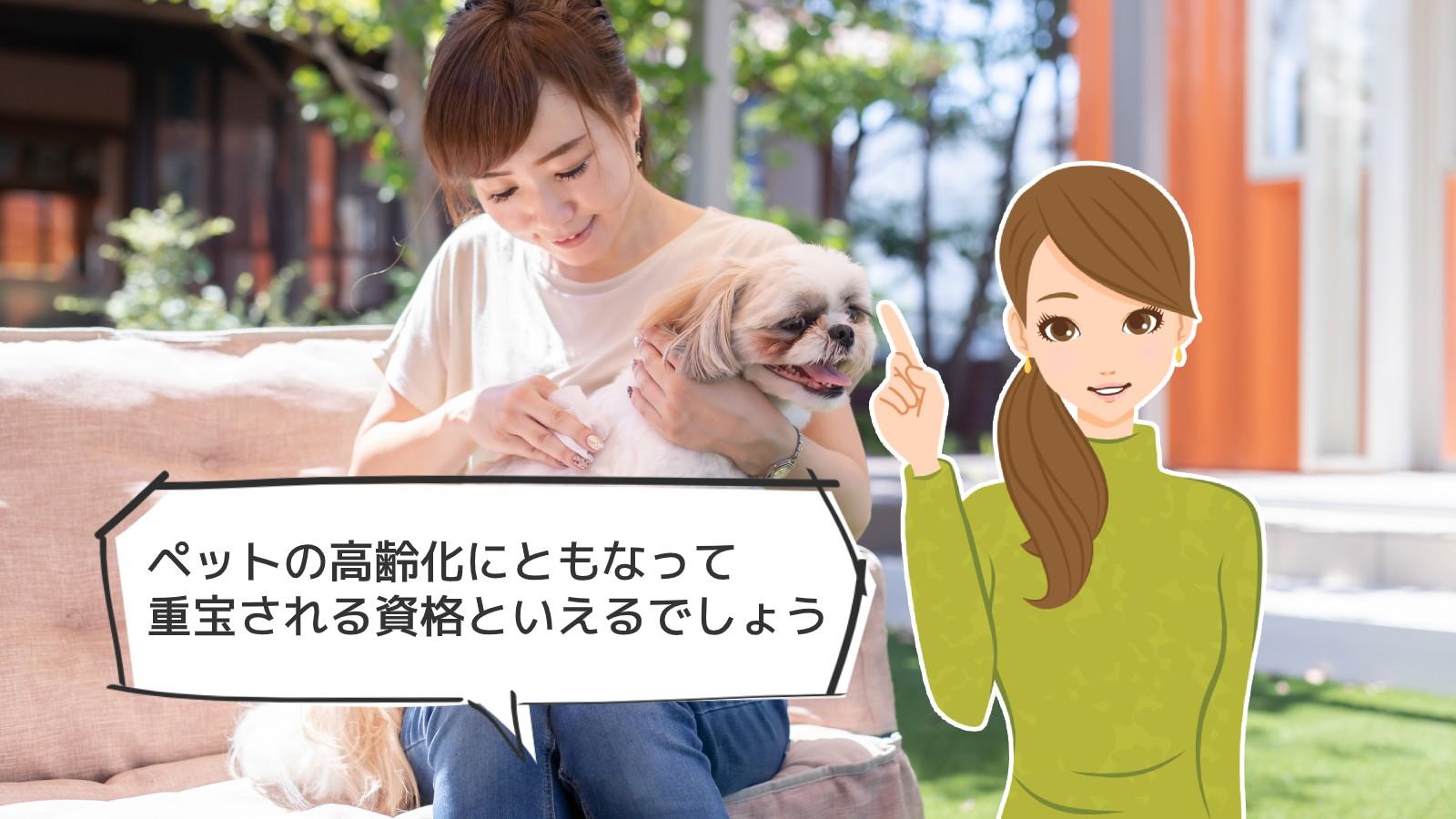 「ペット介護インストラクター資格」のアイキャッチ画像